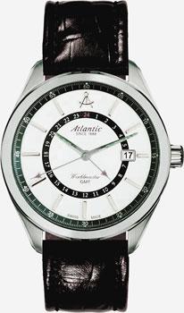 Швейцарские наручные  мужские часы Atlantic 53752.41.21. Коллекция Worldmaster