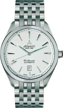 Швейцарские наручные  мужские часы Atlantic 53755.41.21. Коллекция Worldmaster