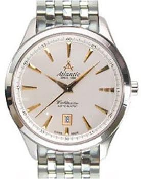 Швейцарские наручные  мужские часы Atlantic 53755.43.21. Коллекция Worldmaster