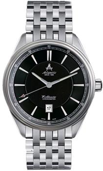 Швейцарские наручные  мужские часы Atlantic 53756.41.61. Коллекция Worldmaster