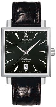 Швейцарские наручные  мужские часы Atlantic 54350.41.61. Коллекция Worldmaster
