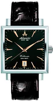 Швейцарские наручные  мужские часы Atlantic 54350.41.61R. Коллекция Worldmaster