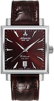 Швейцарские наручные  мужские часы Atlantic 54350.41.81. Коллекция Worldmaster