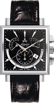 Швейцарские наручные  мужские часы Atlantic 54450.41.61. Коллекция Worldmaster