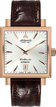 Швейцарские наручные  мужские часы Atlantic 54750.44.21. Коллекция Worldmaster