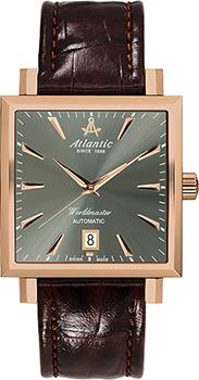Швейцарские наручные  мужские часы Atlantic 54750.44.41. Коллекция Worldmaster