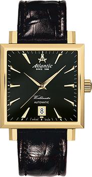 Швейцарские наручные  мужские часы Atlantic 54750.45.61. Коллекция Worldmaster