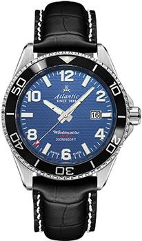 Швейцарские наручные  мужские часы Atlantic 55370.47.55S. Коллекция Worldmaster Diver