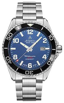 Швейцарские наручные  мужские часы Atlantic 55375.47.55S. Коллекция Worldmaster