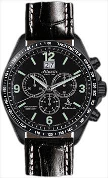 Швейцарские наручные  мужские часы Atlantic 55460.46.66. Коллекция Worldmaster