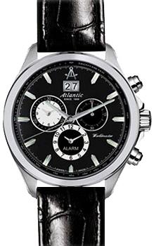 Швейцарские наручные  мужские часы Atlantic 55462.41.61. Коллекция Worldmaster