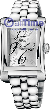 Женские наручные швейцарские часы в коллекции Rectangular Oris