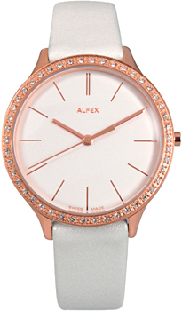fashion наручные  женские часы Alfex 5644-778. Коллекция Crystal Line