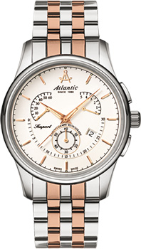 Швейцарские наручные  мужские часы Atlantic 56455.43.21R. Коллекция Seaport