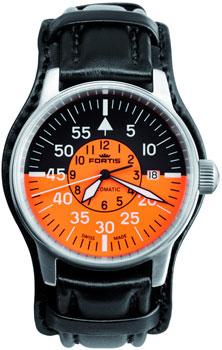 Швейцарские наручные  мужские часы Fortis 595.11.13L.01. Коллекция Aviatis