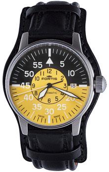 Швейцарские наручные  мужские часы Fortis 595.11.14L.01. Коллекция Aviatis