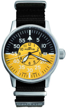 Швейцарские наручные  мужские часы Fortis 595.11.14N.01. Коллекция Aviatis