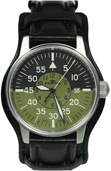 Швейцарские наручные  мужские часы Fortis 595.11.16L01. Коллекция Aviation