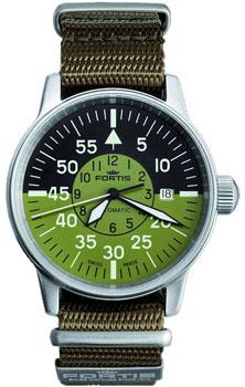 Швейцарские наручные  мужские часы Fortis 595.11.16N.11. Коллекция Aviatis