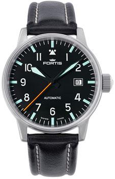 Швейцарские наручные  мужские часы Fortis 595.11.41L. Коллекция Aviatis