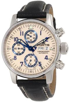 Швейцарские наручные  мужские часы Fortis 597.20.92L.01. Коллекция Aviatis