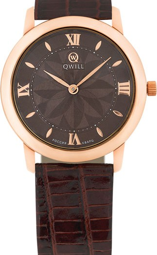 Женские наручные золотые часы в коллекции Classic Qwill