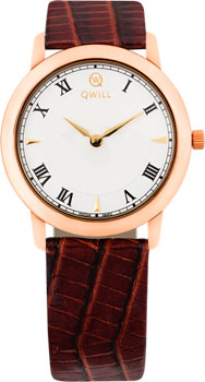 Российские наручные  женские часы Qwill 6050.01.01.1.11A. Коллекция Classic