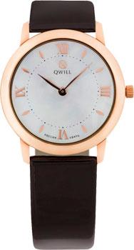 Российские наручные  женские часы Qwill 6050.01.01.1.31A. Коллекция Classic