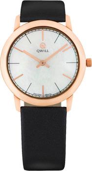 Российские наручные  женские часы Qwill 6050.01.01.1.35A. Коллекция Classic