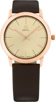 Российские наручные  женские часы Qwill 6050.01.01.1.45A. Коллекция Classic