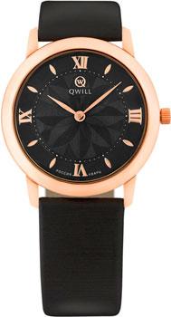 Российские наручные  женские часы Qwill 6050.01.01.1.51C. Коллекция Classic