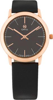 Российские наручные  женские часы Qwill 6050.01.01.1.55A. Коллекция Classic