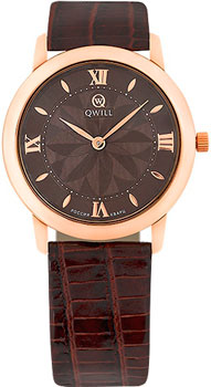 Российские наручные  женские часы Qwill 6050.01.01.1.61A. Коллекция Classic