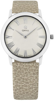 Российские наручные  женские часы Qwill 6050.01.04.9.21A. Коллекция Classic