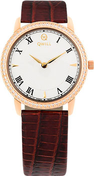 Российские наручные  женские часы Qwill 6050.05.11.1.11A. Коллекция Classic
