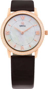 Российские наручные  женские часы Qwill 6050.05.11.1.31A. Коллекция Classic