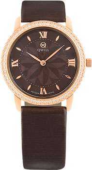 Российские наручные  женские часы Qwill 6050.05.11.1.61A. Коллекция Classic