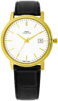 Швейцарские наручные  мужские часы Swiss Collection 6091PL-2L. Коллекция Flat