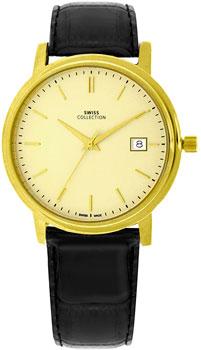 Швейцарские наручные  мужские часы Swiss Collection 6091PL-3L. Коллекция Flat