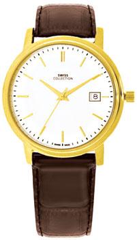 Швейцарские наручные  мужские часы Swiss Collection 6091RPL-2L. Коллекция Flat