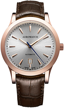 Швейцарские наручные  мужские часы Aerowatch 60947-RO02. Коллекция Les Grandes Classiques