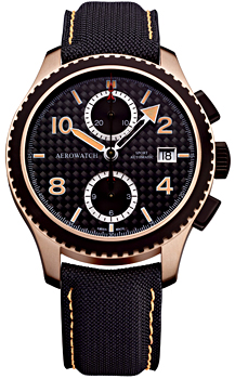 Швейцарские наручные  мужские часы Aerowatch 61929-RN02. Коллекция Aeroplan