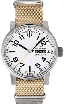 Швейцарские наручные  мужские часы Fortis 623.10.42N. Коллекция Spacematic