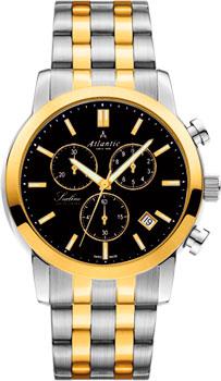 Швейцарские наручные  мужские часы Atlantic 62455.43.61G. Коллекция Sealine