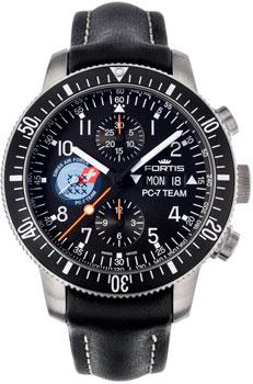 Швейцарские наручные  мужские часы Fortis 638.10.91L.01. Коллекция Cosmonautis