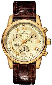 Швейцарские наручные  мужские часы Atlantic 64450.45.38. Коллекция Seabase