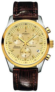Швейцарские наручные  мужские часы Atlantic 65451.43.31. Коллекция Seamove