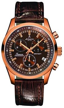 Швейцарские наручные  мужские часы Atlantic 65451.44.81. Коллекция Seamove