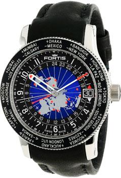 Швейцарские наручные  мужские часы Fortis 674.21.11L.01. Коллекция B-47 World Timer