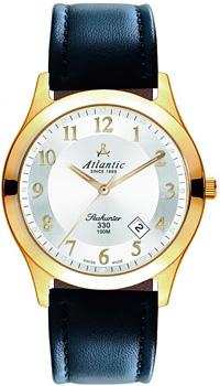 Швейцарские наручные  мужские часы Atlantic 71360.45.23. Коллекция Seahunter